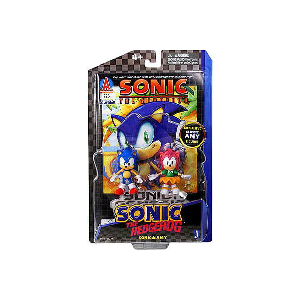 Sonic The Hedgehog Comic Series Sonic Amy 3 5 Action Figure 2 Pack Walmart Com Walmart Com