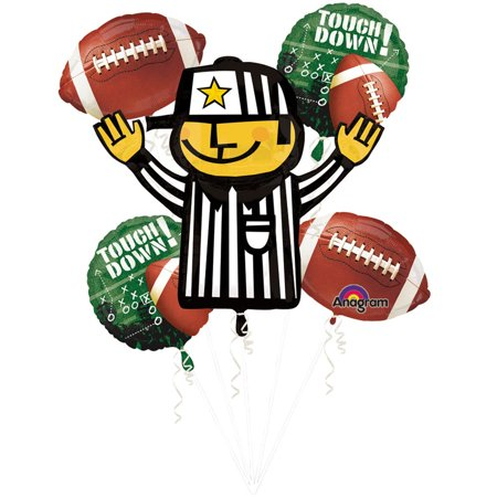 Football Balloon Bouquet - Party Supplies](Football Balloons)