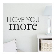 Belvedere Designs LLC I Love You More Quote Wall Decal (Set of 101)