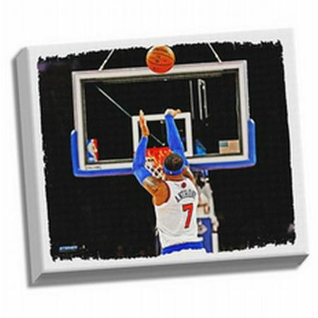 New York Knicks Carmelo Anthony Framed Stretched 22x26 Canvas