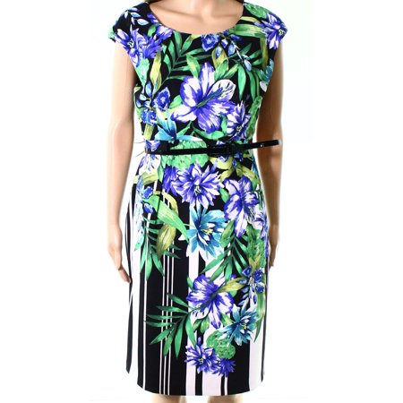 Connected Apparel Womens Petite Floral Sheath