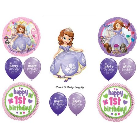 GIRL'S 1ST BIRTHDAY SOFIA THE FIRST PARTY Balloons Decorations Supplies Disney - Sofia The First First Birthday