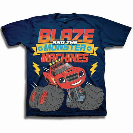 Blaze & the Monster Machines Toddler Boy Short Sleeve T-Shirt](Orange Monster From Monsters Inc)