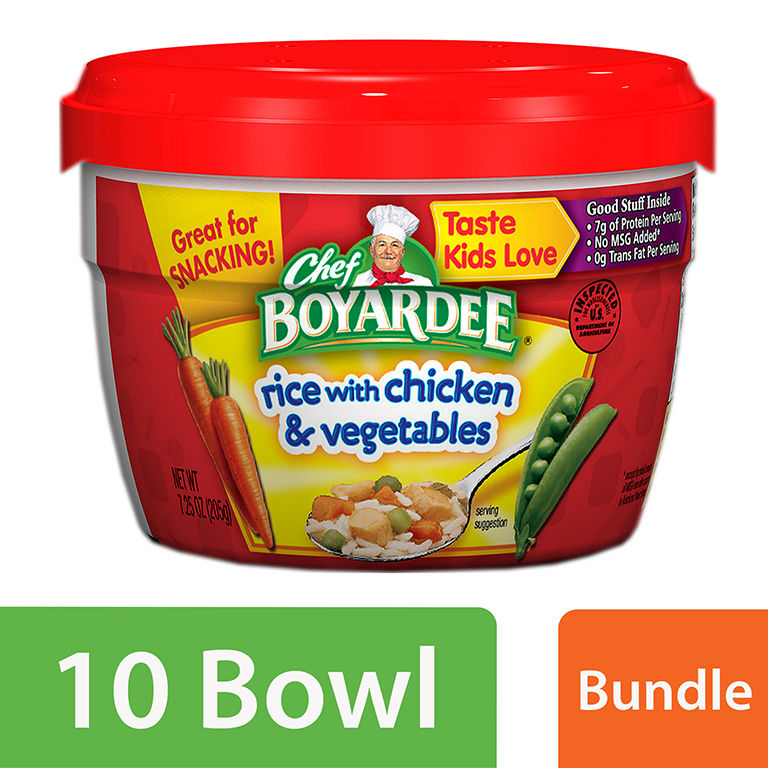 (10 Pack) Chef Boyardee Rice with Chicken & Vegetables, 7.25 Oz.