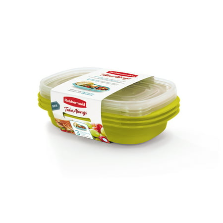 Sandwich Platter Containers (Rubbermaid TakeAlongs Sandwich Food Storage Containers, 3.7 Cup, 3)
