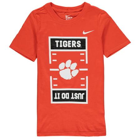 Clemson Tigers Nike Youth JDI Field Football T-Shirt - Orange (Nike Youth Football Kits)