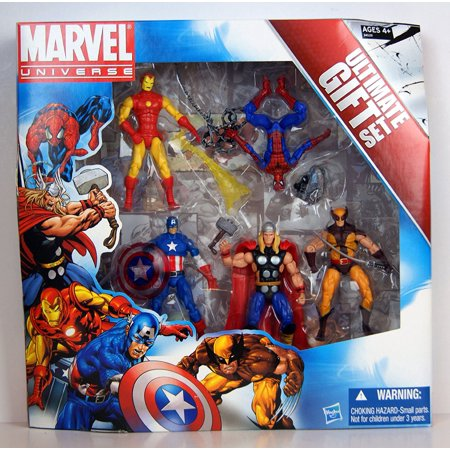 Iron Man Thor Armor (Marvel Universe 3 3/4 Inch Action Figure 5Pack Avengers Ultimate Gift Set SpiderMan, Wolverine, Iron Man, Thor Captain)