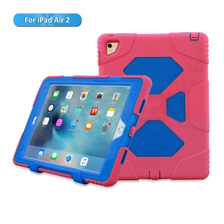 cheap for discount cdb2f bf926 ACEGUARDER The Best Protection Drop Proof Heavy Duty iPad Air 2/iPad 6 Case  with Kickstand and Built in Screen Protector at Walmart-Compatible with ...