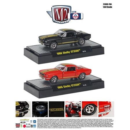 1966 Shelby Mustang Gt350h Hertz  50Th Anniversary 2Pc Cars Set 1 64 By M2