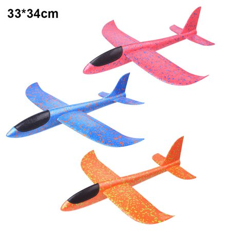 Airplane Manual Throwing Outdoor Sport Toy Model Hand Glider Colorful Children Kids New