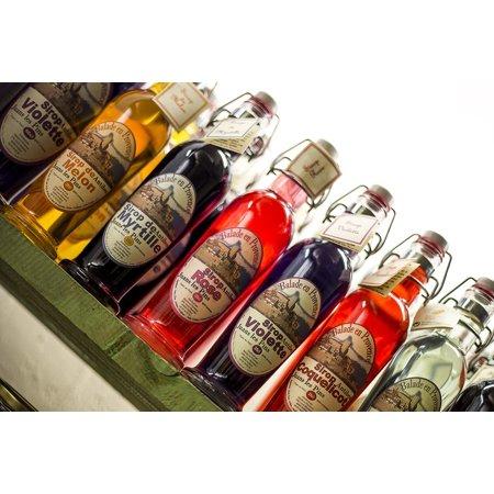 Framed Art for Your Wall Mint Julep Drunk Blueberry Syrup Bottle Drink 10x13 Frame