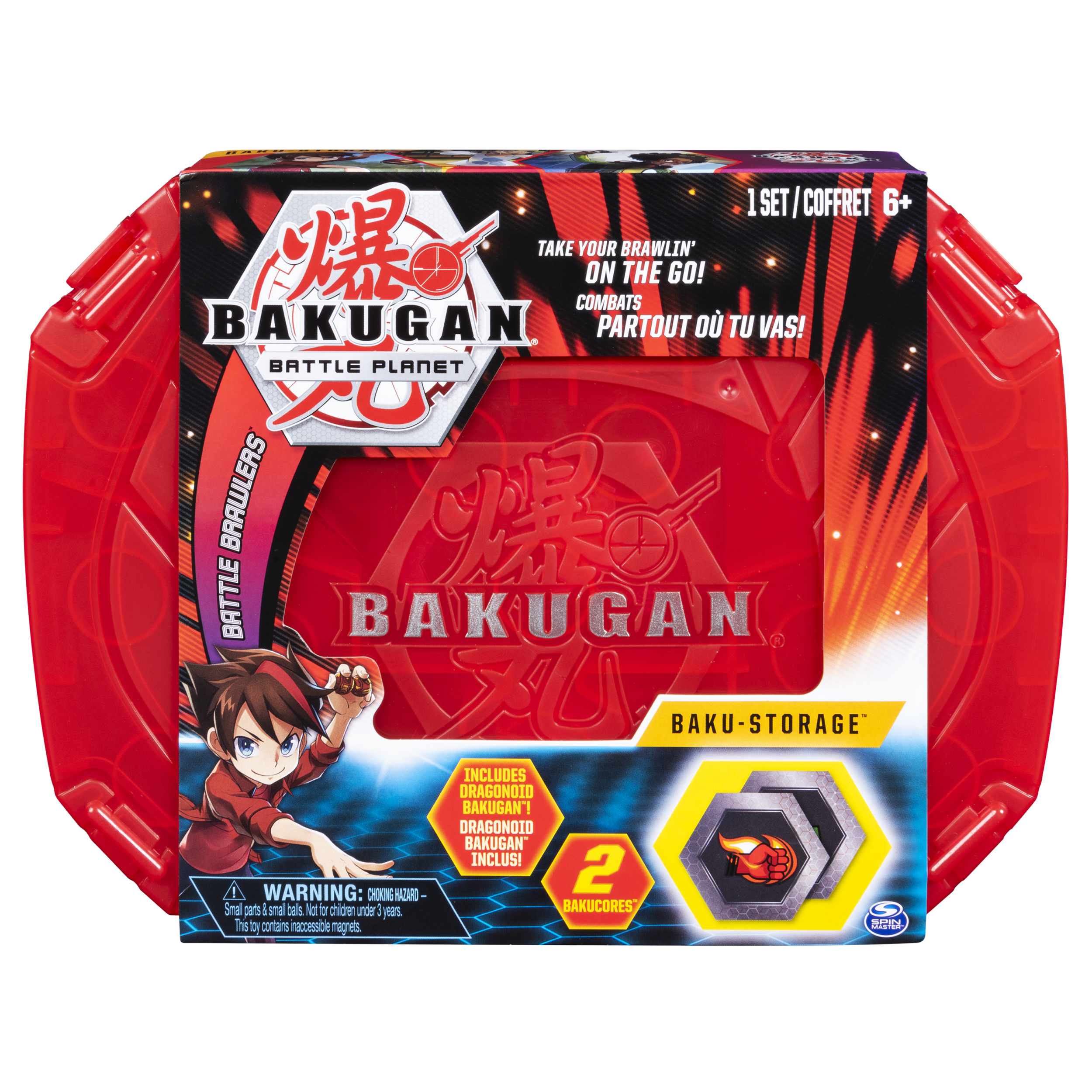 Bakugan, Baku-storage Case (Red) for Bakugan Collectible Creatures, for Ages 6 and Up