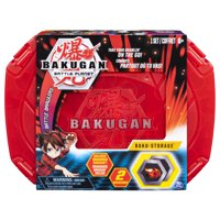 Bakugan, Baku-storage Case (Red) for Bakugan Collectible Action Figures, for Ages 6 and Up