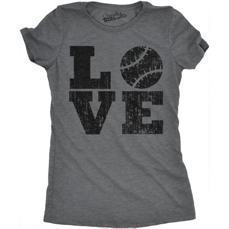 Womens LOVE Baseball Funny Sporting Lover Home Run Cute Relationship T -