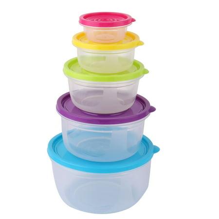 Plastic Food Snack Sugar Dessert Cookies Cake Holder Storage Container 5 Pcs Set