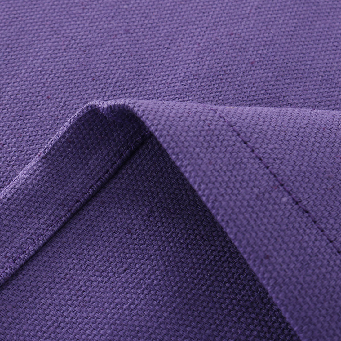 """Vintage Rectangle Cotton Linen Tablecloth Purple 55""""x71"""" Water Stain Resistant - image 2 of 7"""