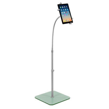 Mount-It! Universal Tablet Floor Stand - Flexible Gooseneck Floor Stand with Tablet Holder