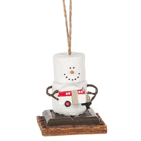Smores Holding Camper Christmas Holiday Ornament (Best Christmas Gifts For Campers)