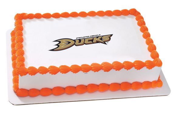 NHL Anaheim Mighty Ducks Edible Frosting Photo Cake Topper by