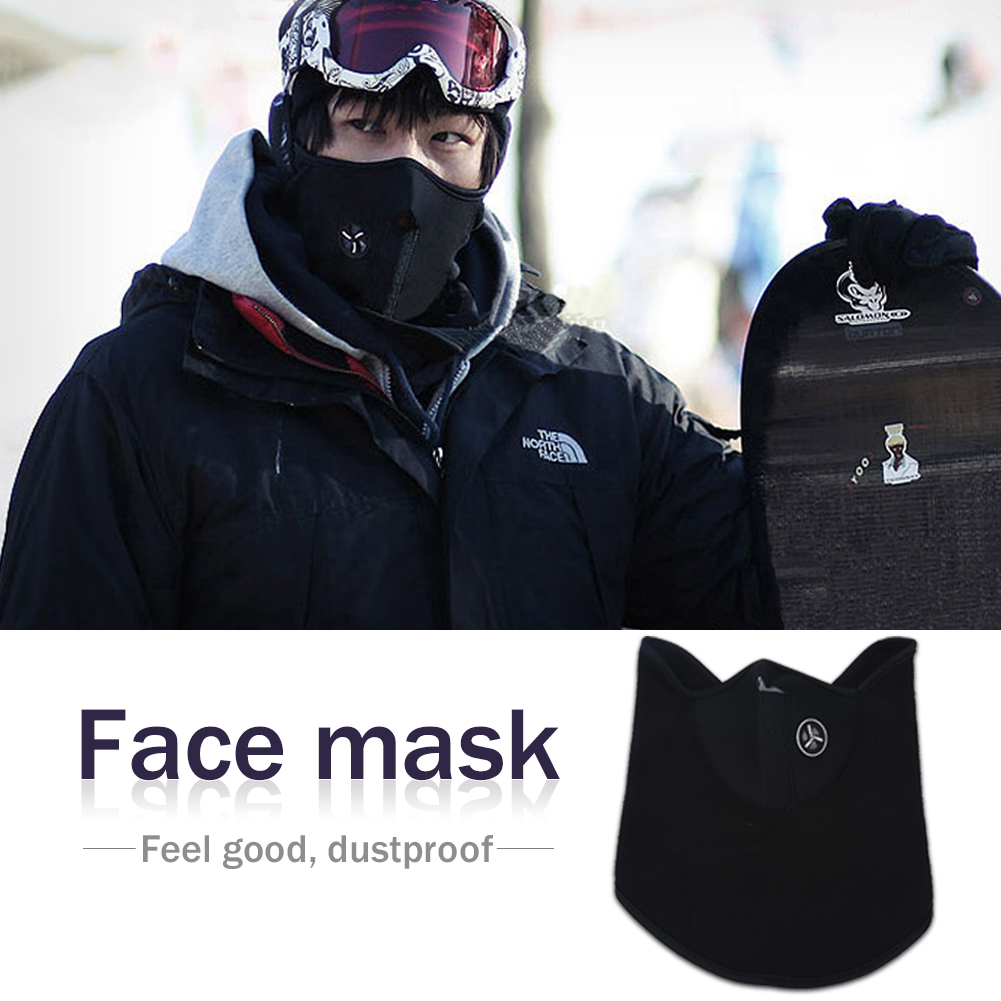 Qiilu Ski Mask Anti Dust Pollution Smoke Mouth Mas Windproof Mask Neck Cover Half Face Mask for Motorcycles Bicycle... by Eb Network Technology