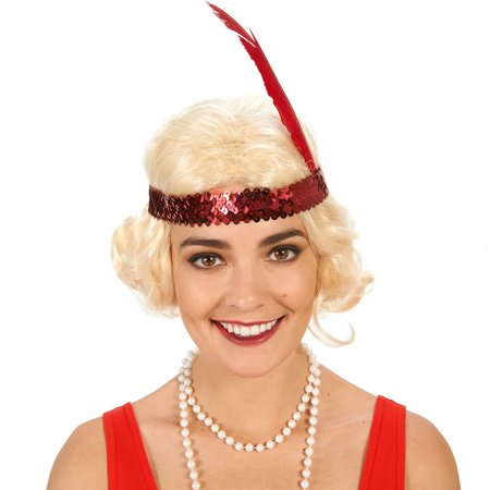Flapper with Curls Adult Wig Halloween Accessory - Flapper Wig