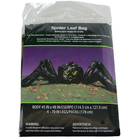 Spider Leaf Bag Decoration - B&m Halloween