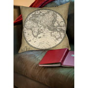 IDG French World Map II Indoor Pillow