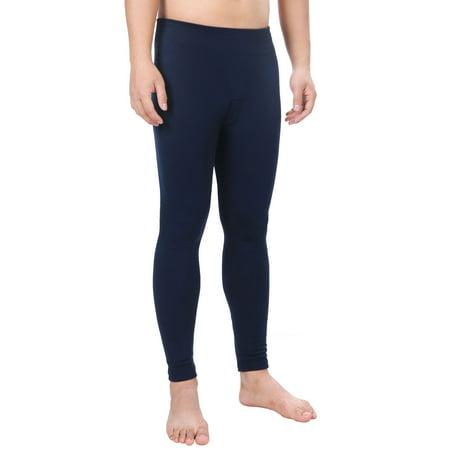 Men Pants Long Johns Winter Thermal Underwear Leggings,Navy Blue (John Daly Golf Pants)