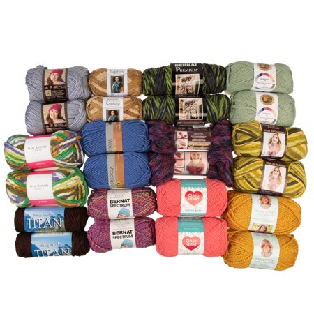 (24 Pack) Assorted Yarn Random Skeins Soft Variety Pack Yarn for Knitting Crocheting Sweaters