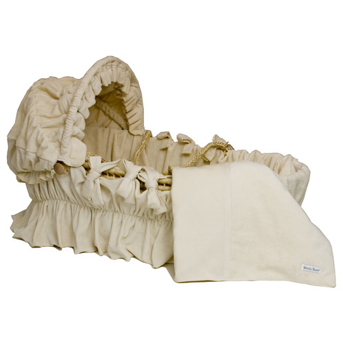 Wendy Anne Ivory Velour Cotton Moses Basket Blanket by Wendy Anne