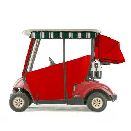 Red Golf Cart - Yamaha G29 Drive Golf Cart PRO-TOURING Sunbrella Track Enclosure - Red
