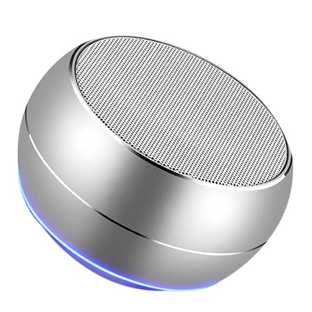 Homeholiday Bluetooth 4.1 Mini Round Type Metal Case Speaker Indoor Outdoor Portable Wireless Rechargeable Sound Box - image 1 of 8