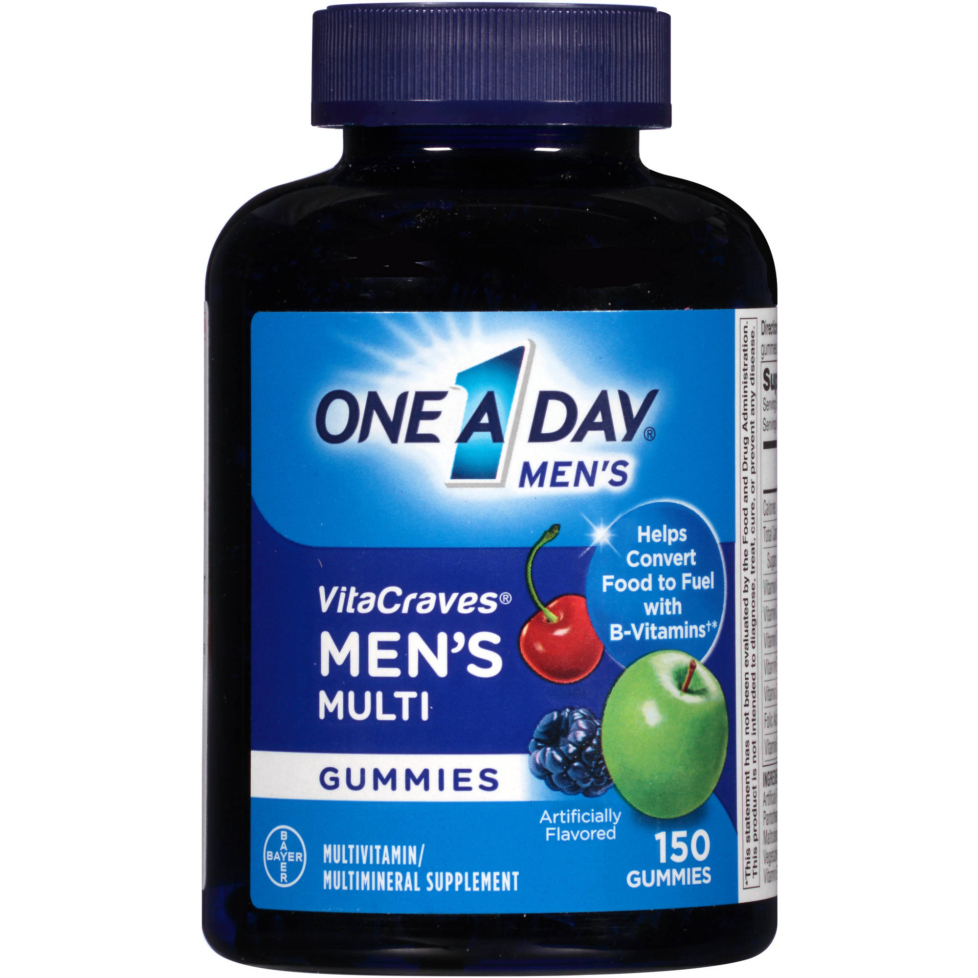 One a Day Men's VitaCraves Men's Gummies Multivitamin/Multimineral Supplement, 150 count
