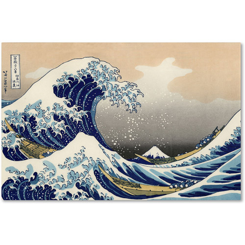 "Trademark Fine Art ""The Great Kanagawa Wave"" Canvas Art by Katsushika Hokusal"
