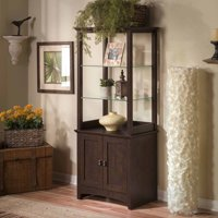Buena Vista Tall Library Storage Cabinet with Doors in Madison Cherry