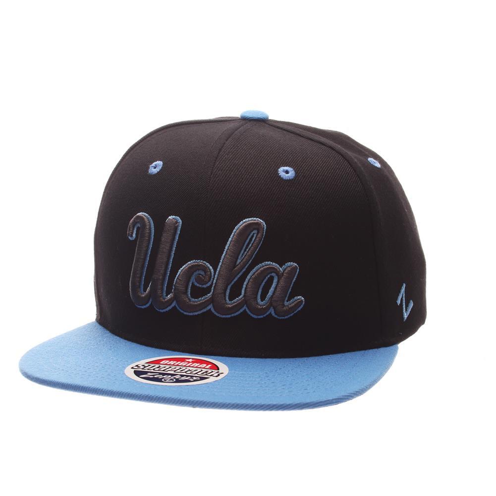 UCLA Bruins Snapback Hat Zephyr Z11 Phantom Black Cap