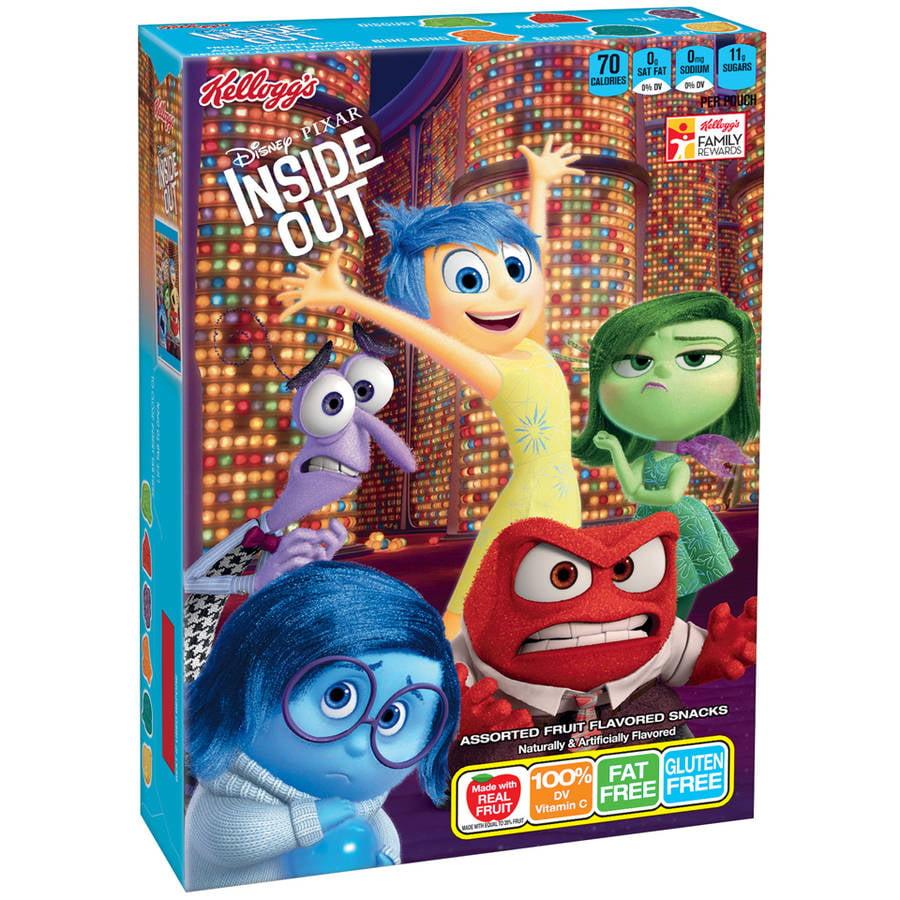Kellogg's Disney/Pixar Inside Out Fruit Flavored Snacks, 10 count, 8 oz