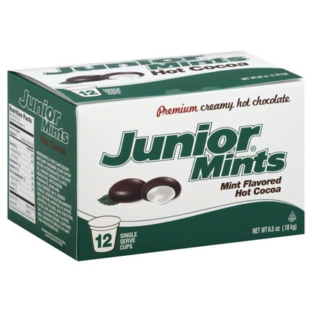 Junior Mints Chocolate Mint Hot Cocoa K-Cups 12 (Best K Cup Hot Chocolate)