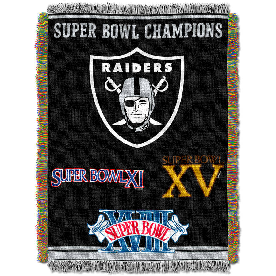 "NFL 48"" x 60"" Commemorative Series Tapestry Throw, Raiders"