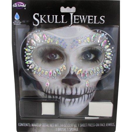 Stone Marquee Halloween (Womens Glam Skeleton Jewels Kit Halloween Costume)