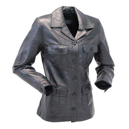 Pocket Safari Jacket (Lightweight Button-Up Lambskin 4 Pocket Safari Coat #L718024K)
