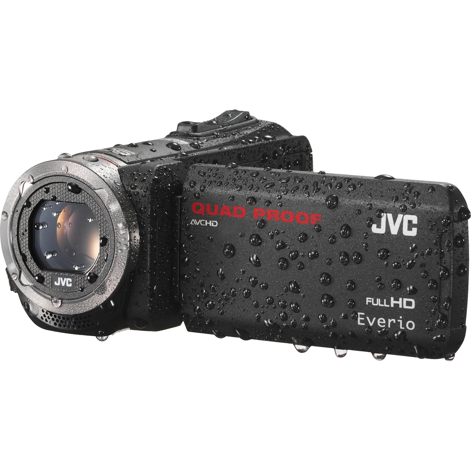 JVC Everio GZ-R320 Quad Proof Full HD Digital Video Camera Camcorder (Black)