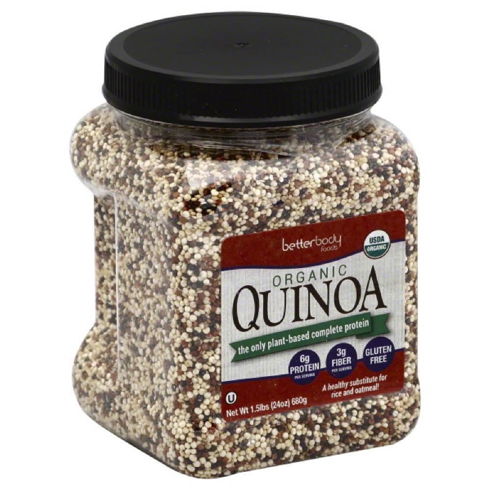 BetterBody Foods Organic Quinoa, 1.5 Lb (Pack of 6)
