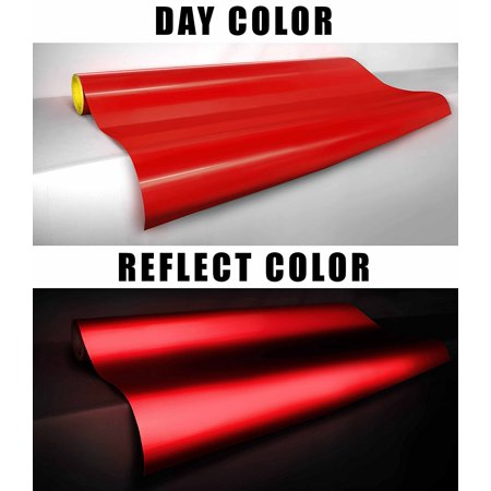 Red Reflective Sheet 12 Quot X 30 Quot Adhesive Craft Vinyl For