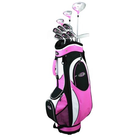 Golf Girl FWS2 PETITE Lady Pink Hybrid Club Youth Set & Cart (Best Ladies Hybrid Golf Clubs)