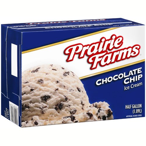 Prairie Farms Chocolate Chip Ice Cream, 64 oz