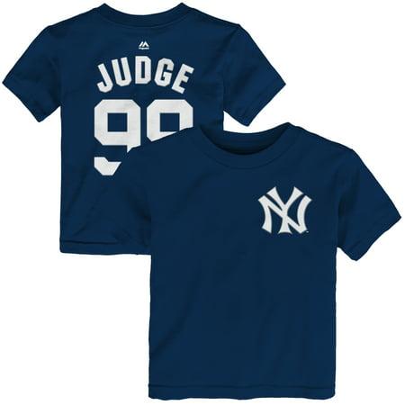 Aaron Judge New York Yankees Majestic Toddler Name & Number T-Shirt - Navy (Kids Stores New York)