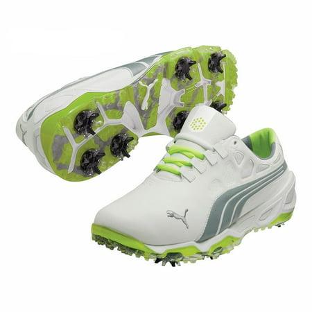 Puma Men s Biofusion White  Grey  Fluorescent Yellow Golf Shoes -  Walmart.com fb2dec408