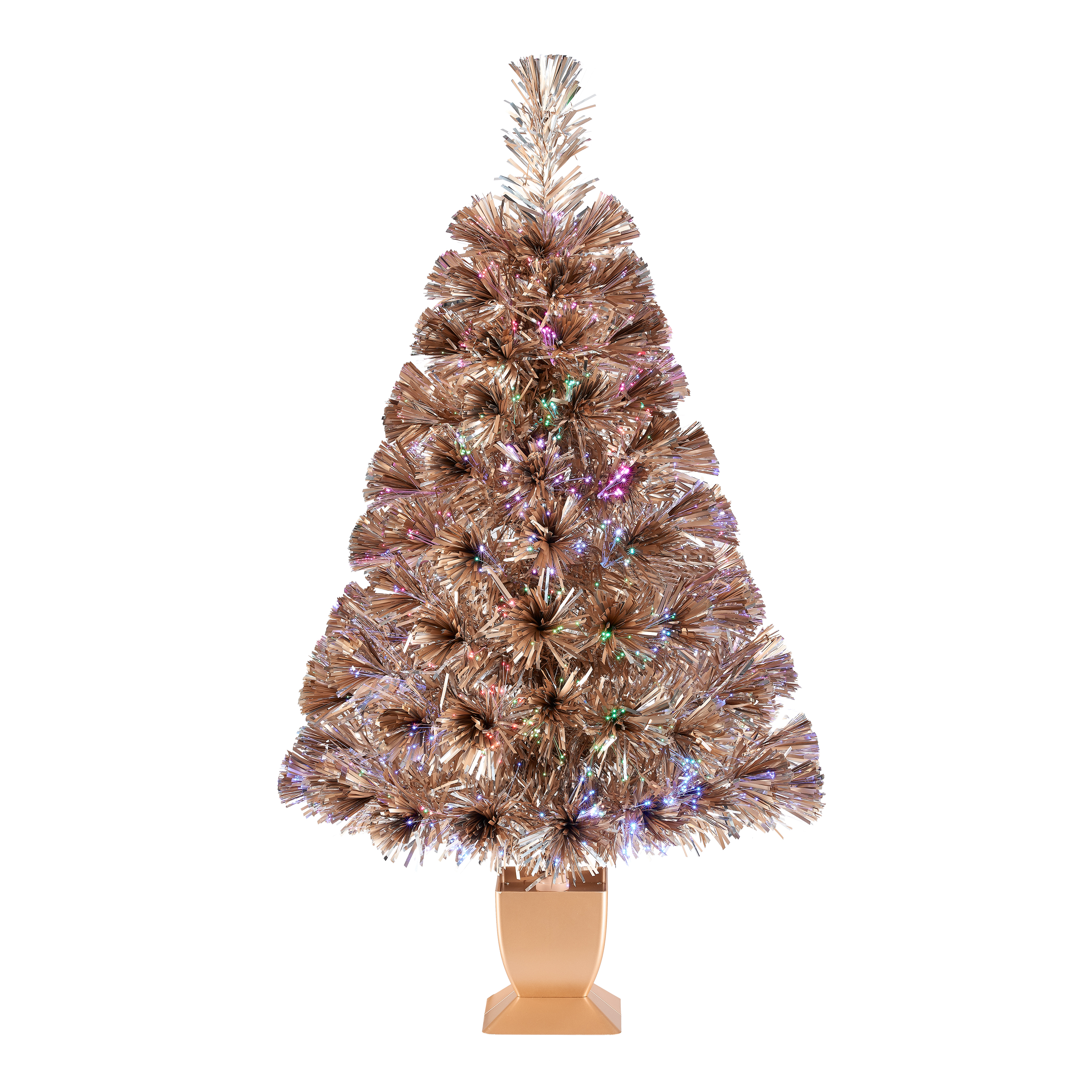 Tabletop Fibre Optic Christmas Tree: Holiday Time Pre-Lit Fiber Optic Artificial Tabletop