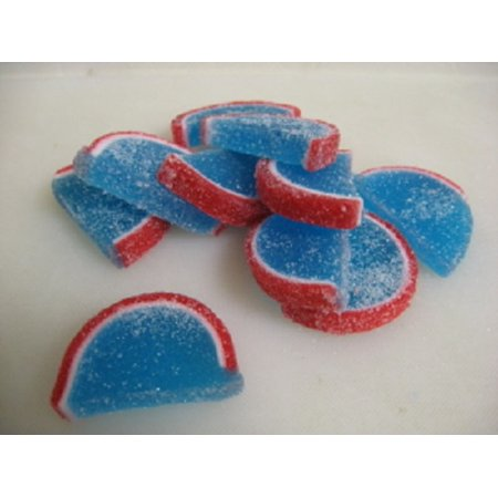 Cavalier Candies Fruit Slices Blue Raspberry Flavor Jelly Candy 2 Pounds